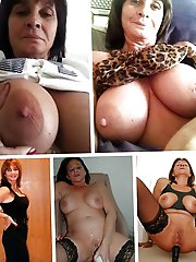 Ugly mature mommies fingering themselves