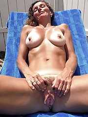 Experienced cougars are posing fully nude